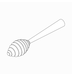 Honey dipper icon isometric 3d style vector