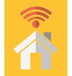 House social network design vector