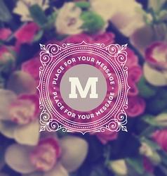 Monogram logo on flowers background vector