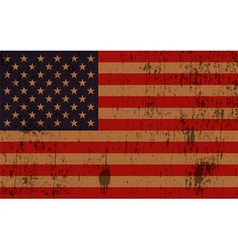 Old american flag grunge vector