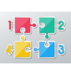 paper puzzle infographics vector image