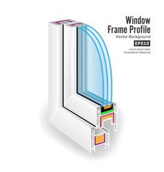 Plastic window frame profile structure corner vector