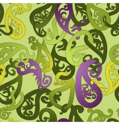 Seamless Pattern Paisley Colorful Background vector image vector image