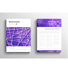 set of brochure design template vector image vector image