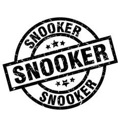 Snooker round grunge black stamp vector