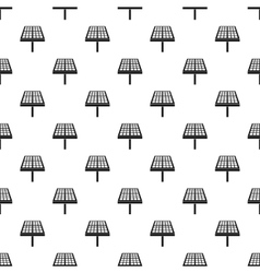 Solar panel pattern simple style vector image