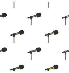 Sound recording equipment pattern seamless vector