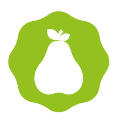 Sticker delicious pear healthy fruit vector