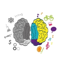 Thinking and brain design vector