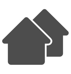 Village flat icon vector