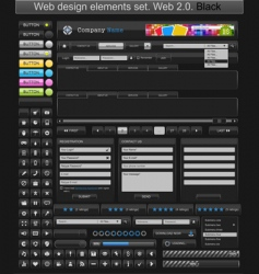 web design elements black vector image vector image