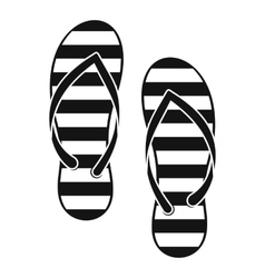 Flip flop icon simple style vector