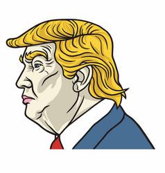 Portrait of donald trump the us president vector