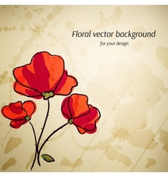 Artistic floral background for your design retro vector