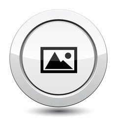 Button with mountain vector