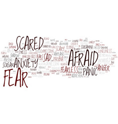 Fear word cloud concept vector