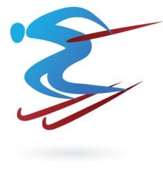 sport silhouette series ski vector image