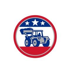 American Mechanical Digger Excavator Retro vector image