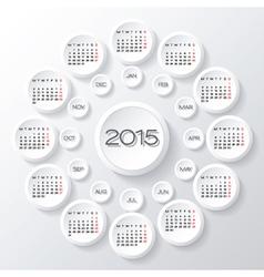 2015 white circular calendar vector