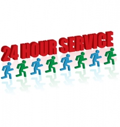 24 hour service vector image vector image