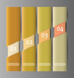 paper numbered banners design template vector image
