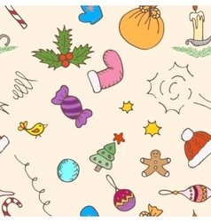 Christmas pattern background seamless vector