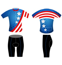 Cycling vest graphic stars vector