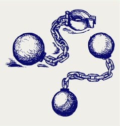 Wrecking ball and chain vector