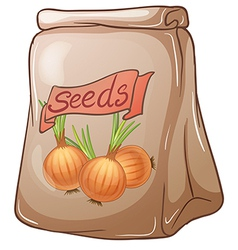 A pack of onion seeds vector image