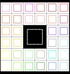 Arrow on a square shape felt-pen 33 vector