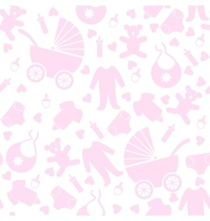 baby clothes and toys vector image vector image