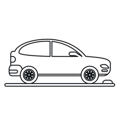 car coupe parking lot linear vector image