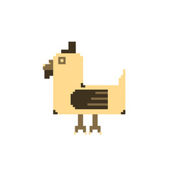 Chicken pixel art animal farm vector