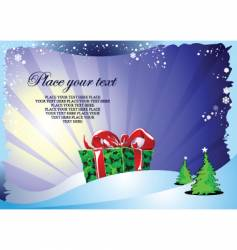 Christmas and gift vector image