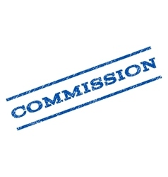 Commission watermark stamp vector
