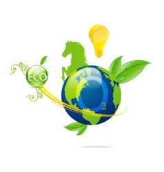 Cretive nature green eco earth symbol vector