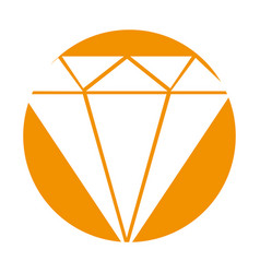 diamond rich isolated icon vector image vector image
