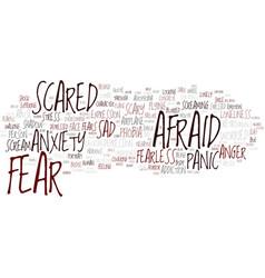 Fear word cloud concept vector