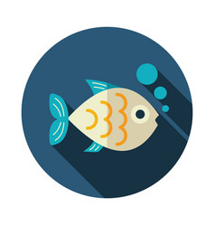 Fish icon summer vacation vector