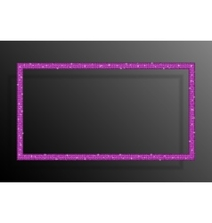 Frame pink sequins rectangle glitter sparkle vector