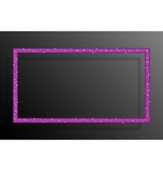 Frame pink sequins rectangle glitter sparkle vector