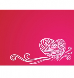 heart ornament background vector image vector image