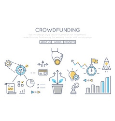 Investment crowdfunding fundraising vector