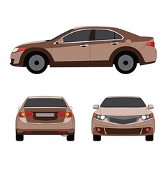 Large sport sedan three side view vector image vector image