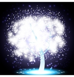 Magical christmas tree vector