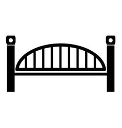 modern arch bridge icon simple black style vector image