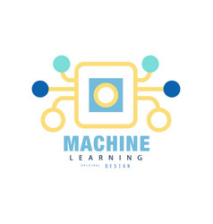 Original machine learning logo artificial vector
