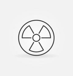 Radiation linear icon vector