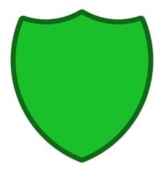Shield toolbar icon vector