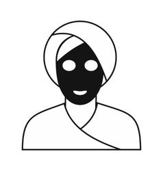 Spa facial clay mask icon vector